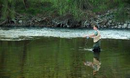 Pesca di mosca Immagini Stock Libere da Diritti