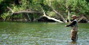 Pesca di mosca Immagini Stock