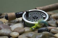 Pesca di mosca III fotografie stock