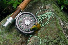 Pesca di mosca III Fotografia Stock