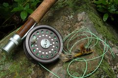 Pesca di mosca VI fotografia stock