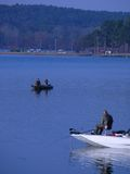 Pesca di primo mattino Fotografie Stock