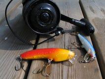 Pesca di rotazione Immagini Stock