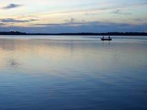 Pesca di sera Immagini Stock Libere da Diritti