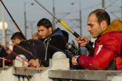 Pesca dilettante a Costantinopoli Fotografia Stock Libera da Diritti