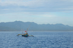 Pesca do amanhecer no mar de Bali Foto de Stock