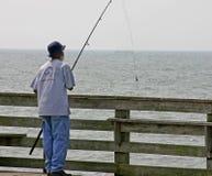 Pesca do cais Imagens de Stock Royalty Free