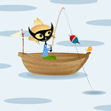 Pesca do gato Imagem de Stock Royalty Free