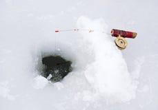 Pesca do gelo Fotos de Stock Royalty Free