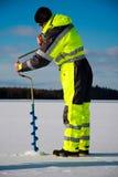 Pesca do gelo foto de stock royalty free