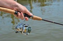 Pesca do homem Imagens de Stock