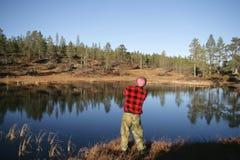 Pesca do homem Fotografia de Stock Royalty Free