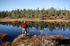 Pesca do homem Imagens de Stock Royalty Free