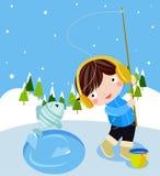 Pesca do inverno Imagens de Stock