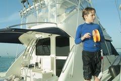 Pesca do menino Imagens de Stock Royalty Free