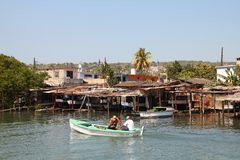 Pesca en Cuba Fotos de archivo