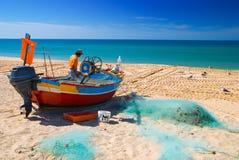Pesca en el Algarve Imagen de archivo libre de regalías