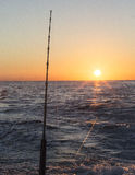 Pesca en el amanecer Imagen de archivo