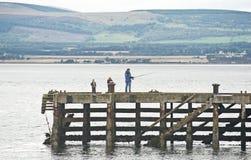 Pesca en el brazo de mar de Cromarty. Imágenes de archivo libres de regalías