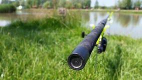 Pesca en el lago Foto de archivo libre de regalías
