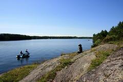 Pesca en el lago charleston Fotografía de archivo libre de regalías