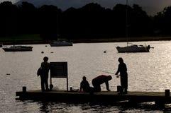 Pesca en el lago Windermere Imagen de archivo libre de regalías
