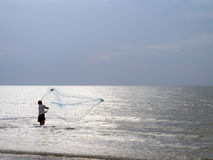 Pesca en el mar Fotos de archivo libres de regalías