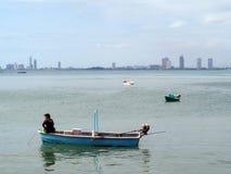 Pesca en el mar Fotografía de archivo libre de regalías