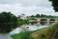 Pesca en el río Loira en Chinon fotos de archivo libres de regalías