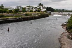 Pesca en Galway Imagen de archivo libre de regalías