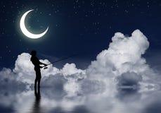 Pesca en la noche Fotos de archivo