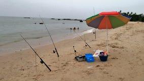 Pesca en la playa pública de Phala de la playa Fotografía de archivo libre de regalías