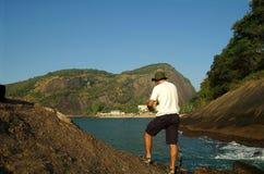 Pesca en mar Fotos de archivo libres de regalías