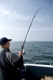 Pesca en mar. imagen de archivo
