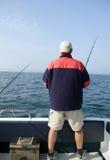 Pesca en mar. Foto de archivo