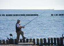 Pesca en mar Imágenes de archivo libres de regalías