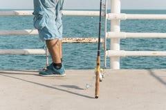 Pesca en mar foto de archivo