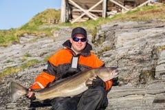 Pesca en mar Trofeo Pescados enormes imágenes de archivo libres de regalías