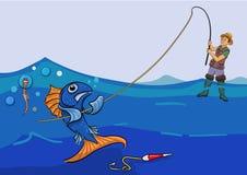Pesca fracasada Foto de archivo libre de regalías