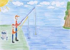 Pesca - gráfico ilustración del vector