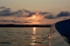Pesca ida no nascer do sol Foto de Stock Royalty Free