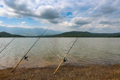 Pesca Lakeside fotografia stock
