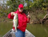 Pesca maggiore per la spigola immagini stock
