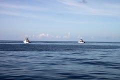 Pesca marittima profonda delle barche Fotografia Stock