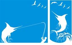 Pesca marittima profonda - priorità bassa Fotografia Stock Libera da Diritti
