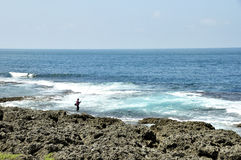 Pesca marittima in spiaggia di Kenting Fotografie Stock Libere da Diritti