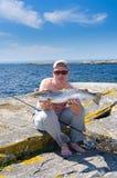 Pesca marittima svedese Fotografie Stock Libere da Diritti