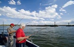 Pesca marittima vicino alla porta fotografia stock