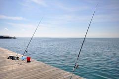 Pesca na cidade Foto de Stock