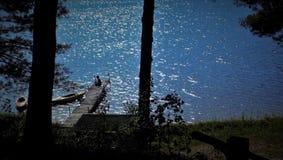 Pesca na doca Fotografia de Stock